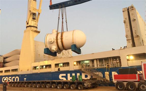 海外华龙一号首堆全部重大件设备全程物流工作