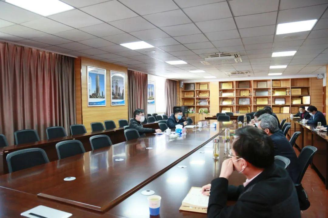 陈宝智在中国核工业华兴建设有限公司江苏分公司调研指导